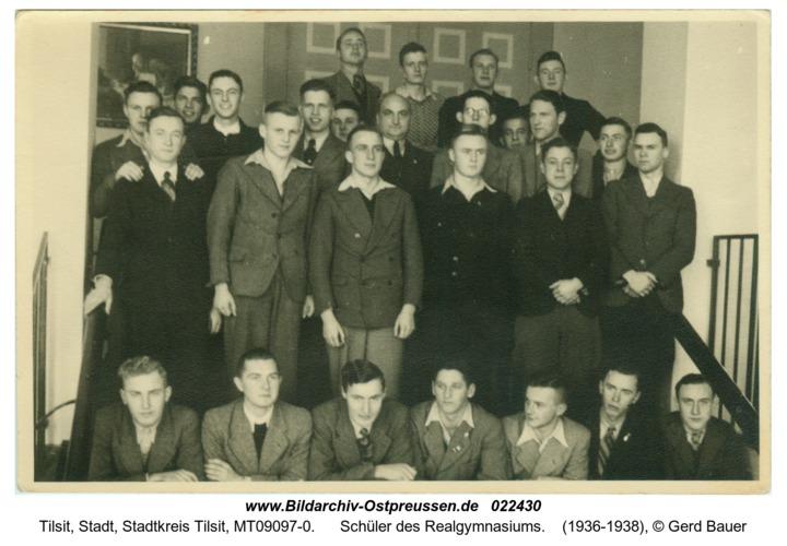 Tilsit, Schüler des Realgymnasiums