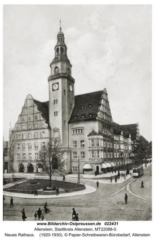 Allenstein, Neues Rathaus