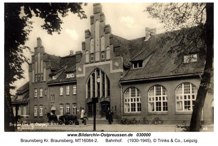 Braunsberg, Bahnhof