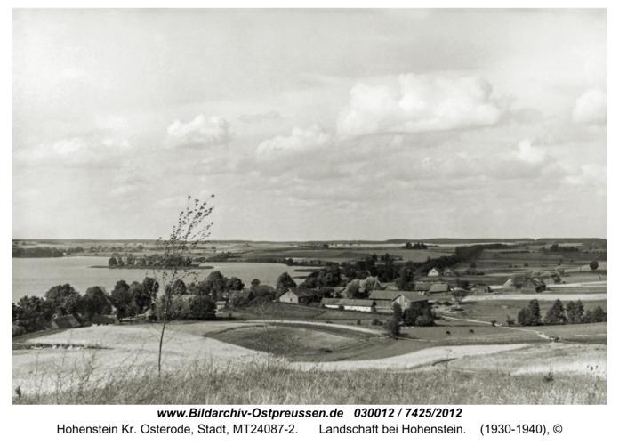 Hohenstein i. Ostpr., Landschaft bei Hohenstein