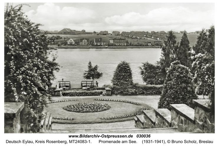 Deutsch Eylau, Promenade am See
