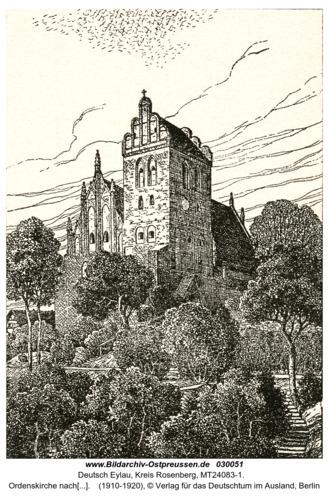Deutsch Eylau, Ordenskirche nach einer Zeichnung von W. Lenz