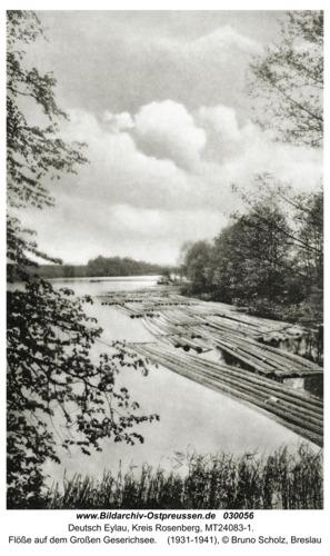 Deutsch Eylau, Flöße auf dem Großen Geserichsee