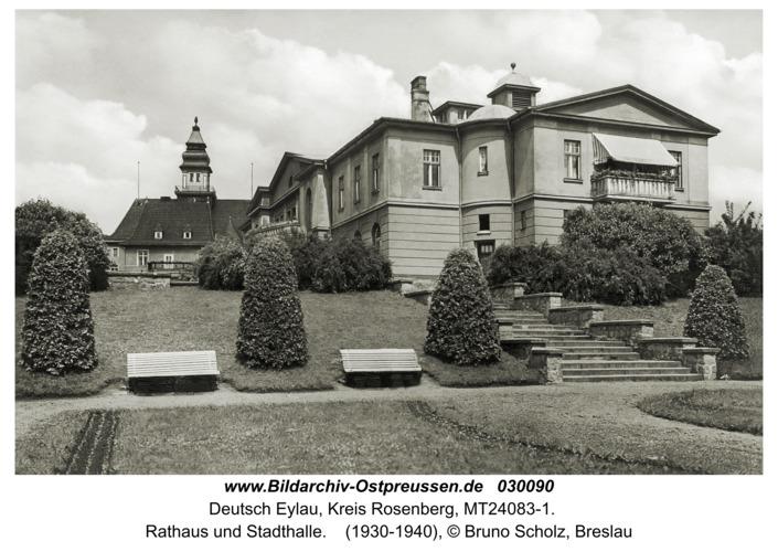 Deutsch Eylau, Rathaus und Stadthalle