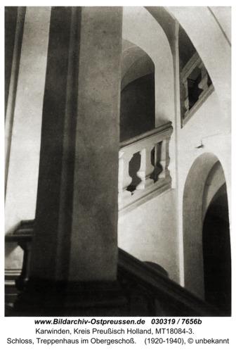 Karwinden, Schloß, Treppenhaus im Obergeschoß