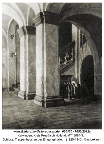 Karwinden, Schloß, Treppenhaus an der Eingangshalle