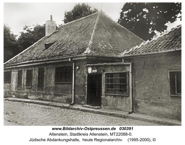 Allenstein, Jüdische Abdankungshalle,  heute Regionalarchiv