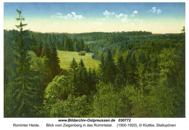 Rominter Heide, Blick vom Ziegenberg in das Romintetal