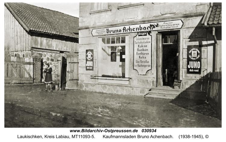Laukischken, Kaufmannsladen Bruno Achenbach