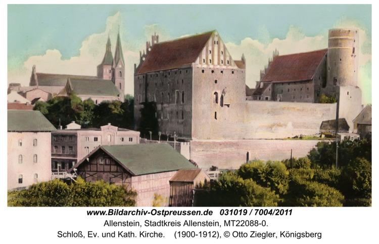 Allenstein, Schloß, Ev. und Kath. Kirche