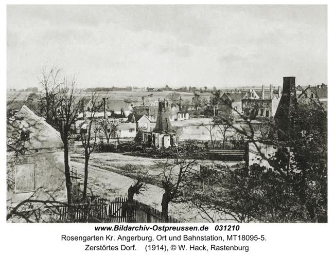 Rosengarten Kr. Angerburg, Zerstörtes Dorf