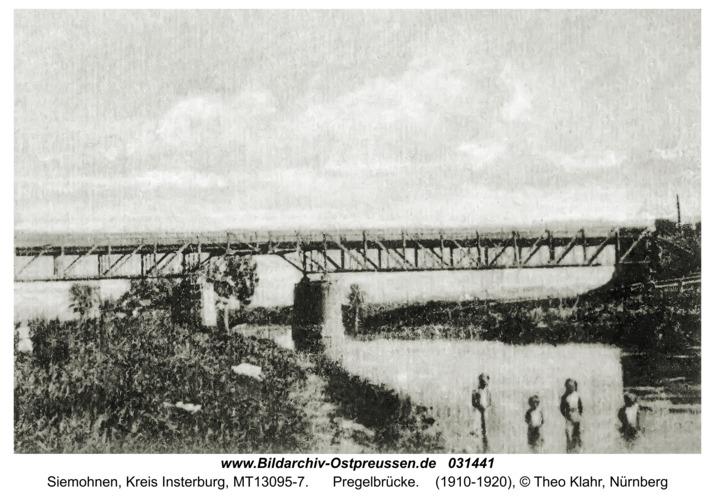 Siemohnen, Pregelbrücke