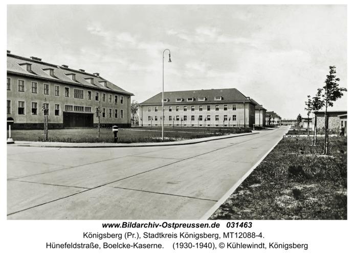 Königsberg (Pr.), Hünefeldstraße, Boelcke-Kaserne