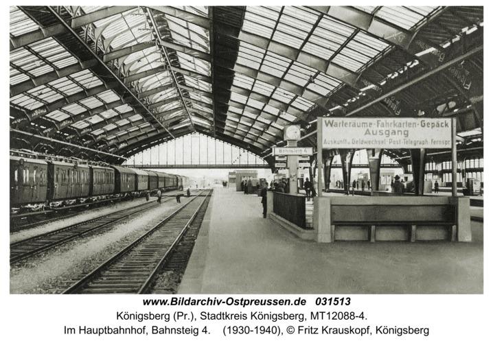 Königsberg (Pr.), Im Hauptbahnhof, Bahnsteig 4