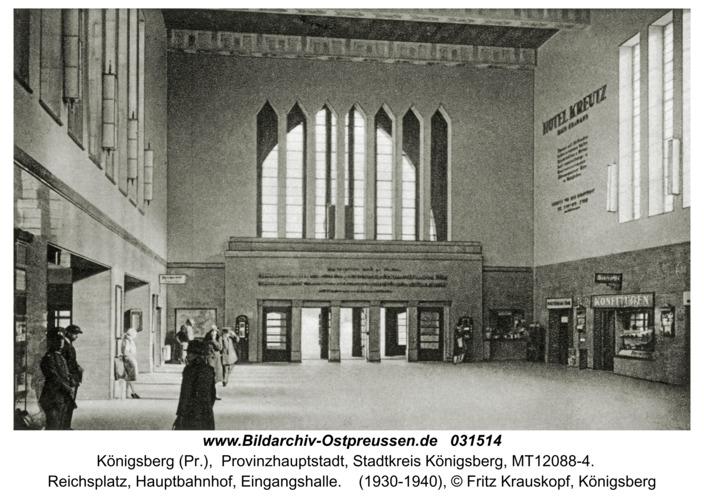 Königsberg (Pr.), Halle des Hauptbahnhofs