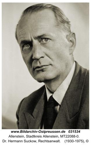 Allenstein, Dr. Hermann Suckow, Rechtsanwalt