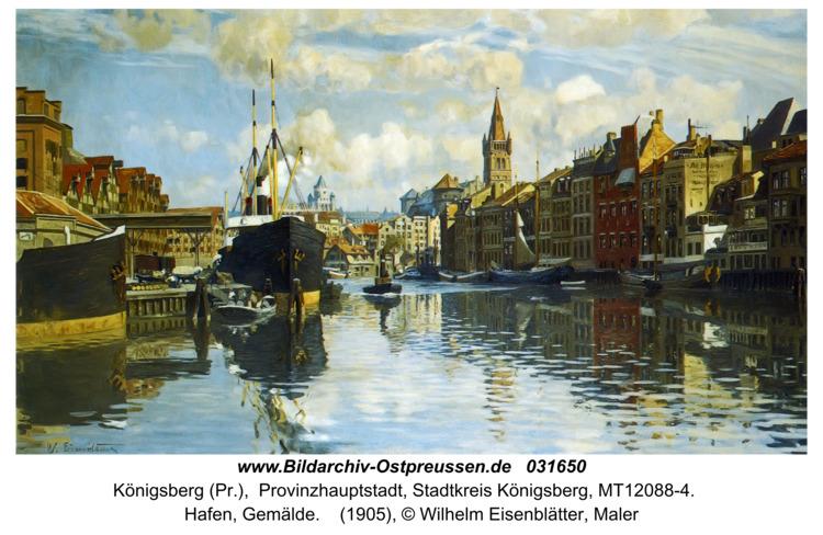 Königsberg (Pr.), Hafen, Gemälde