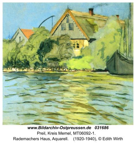 Preil, Rademachers Haus, Aquarell