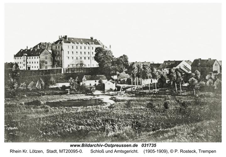 Rhein Kr. Lötzen, Schloß und Amtsgericht