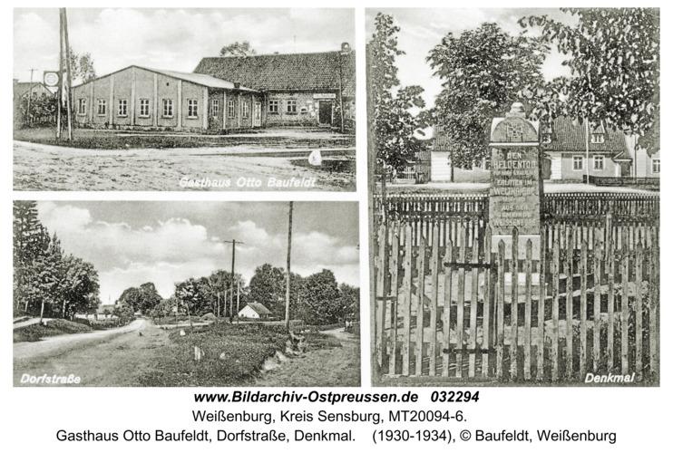 Weißenburg, Gasthaus Otto Baufeldt, Dorfstraße, Denkmal