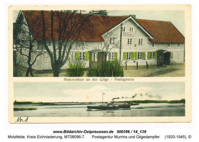 Motzfelde, Postagentur Murrins und Gilgedampfer
