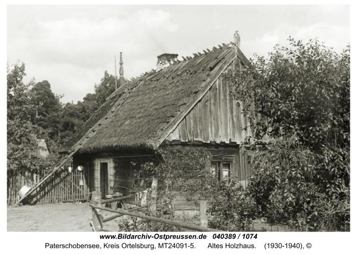 Paterschobensee, Altes Holzhaus