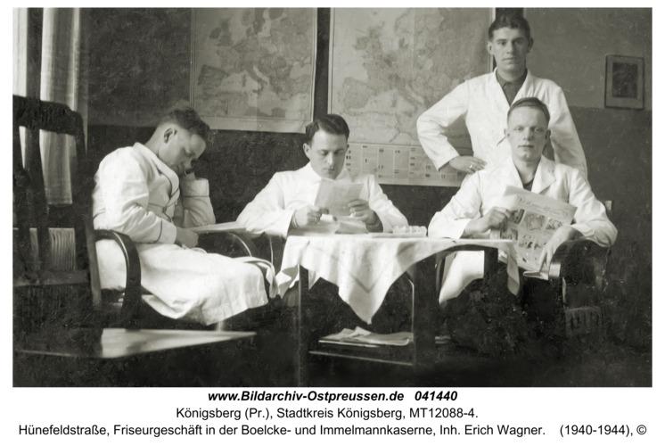 Königsberg, Hünefeldstraße, Friseurgeschäft in der Boelcke- und Immelmannkaserne, Inh. Erich Wagner