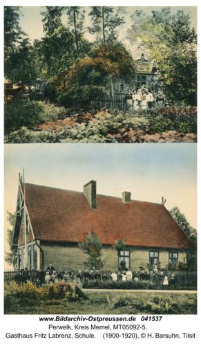Perwelk, Gasthaus Fritz Labrenz, Schule