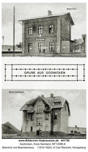 Godnicken, Bahnhof und Beamtenhaus