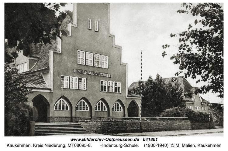 Kaukehmen, Hindenburg-Schule