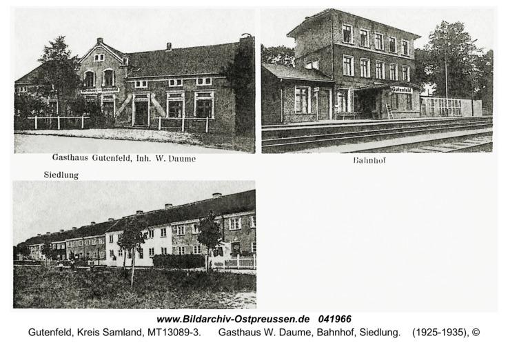 Gutenfeld, Gasthaus W. Daume, Bahnhof, Siedlung