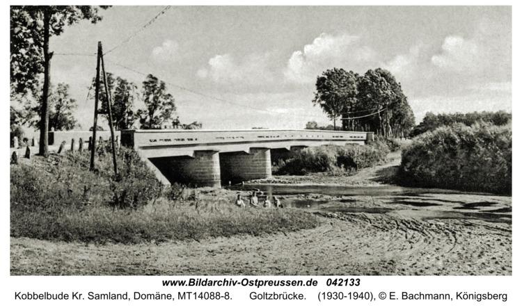 Kobbelbude Kr. Samland, Domäne, Goltzbrücke