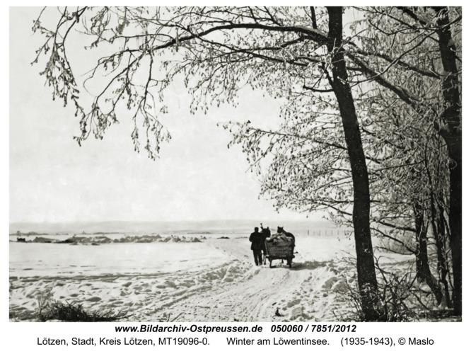 Lötzen, Winter am Löwentinsee