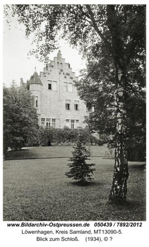 Löwenhagen, Blick zum Schloß