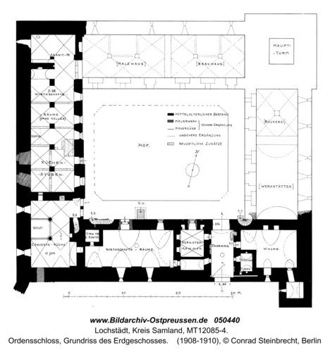 Lochstädt, Ordensschloss, Grundriss des Erdgeschosses