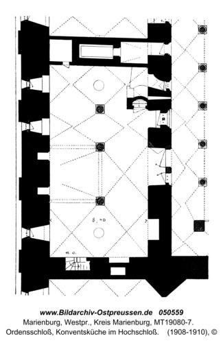 Marienburg, Ordensschloss, Konventsküche im Hochschloss