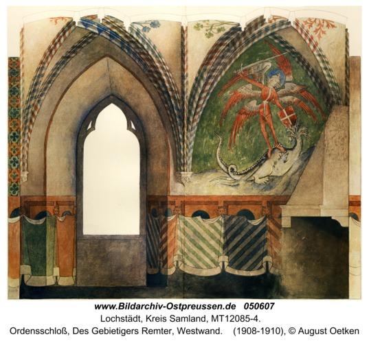 Lochstädt, Ordensschloss, Des Gebietigers Remter, Westwand