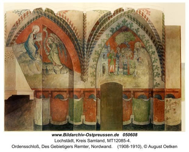 Lochstädt, Ordensschloss, Des Gebietigers Remter, Nordwand