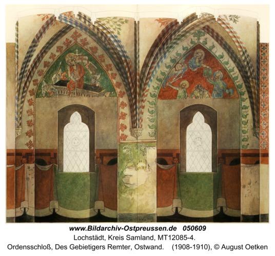 Lochstädt, Ordensschloss, Des Gebietigers Remter, Ostwand