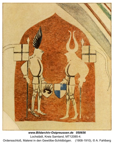 Lochstädt, Ordensschloss, Malerei in den Gewölbe-Schildbögen