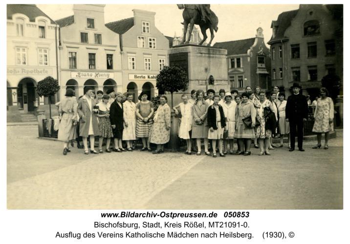 Bischofsburg, Ausflug des Vereins Katholische Mädchen nach Heilsberg