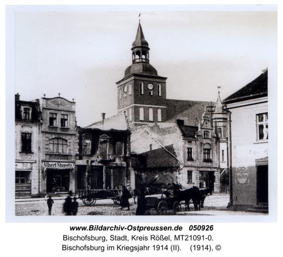 Bischofsburg, Bischofsburg im Kriegsjahr 1914 (II)