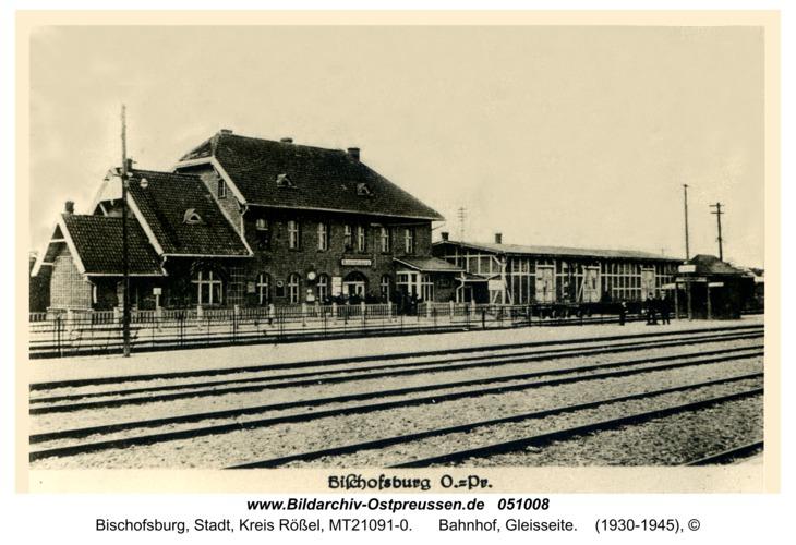 Bischofsburg, Bahnhof, Gleisseite