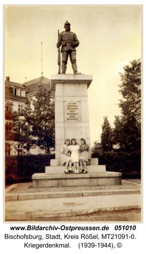 Bischofsburg, Kriegerdenkmal