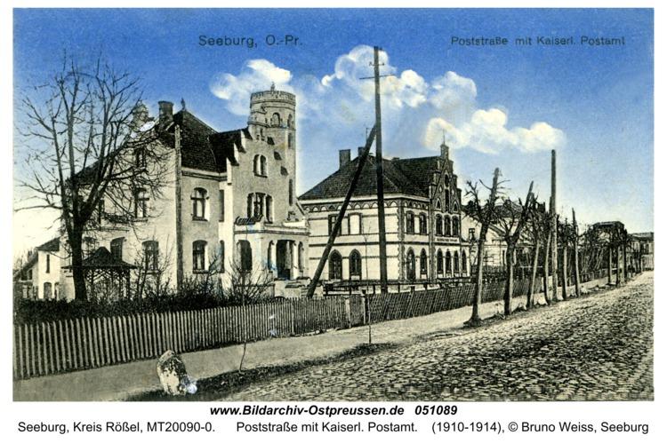 Seeburg, Poststraße mit Kaiserl. Postamt