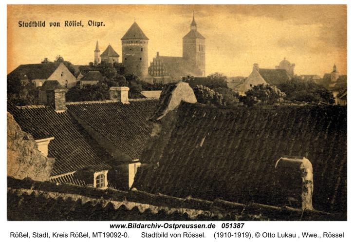 Rößel, Stadtbild von Rössel
