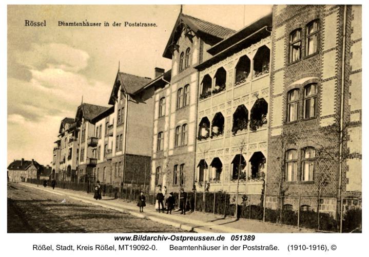 Rößel, Beamtenhäuser in der Poststraße