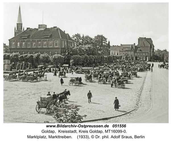 Goldap, Marktplatz, Markttreiben