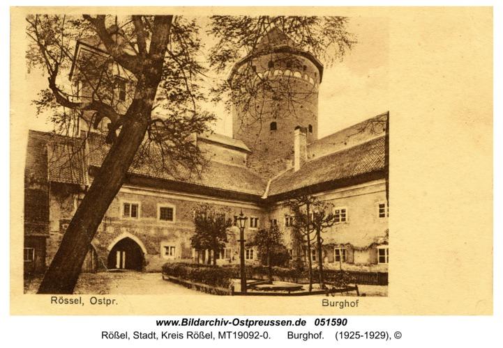 Rößel, Burghof