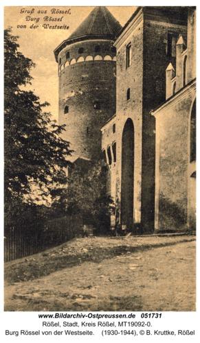 Rößel, Burg Rössel von der Westseite